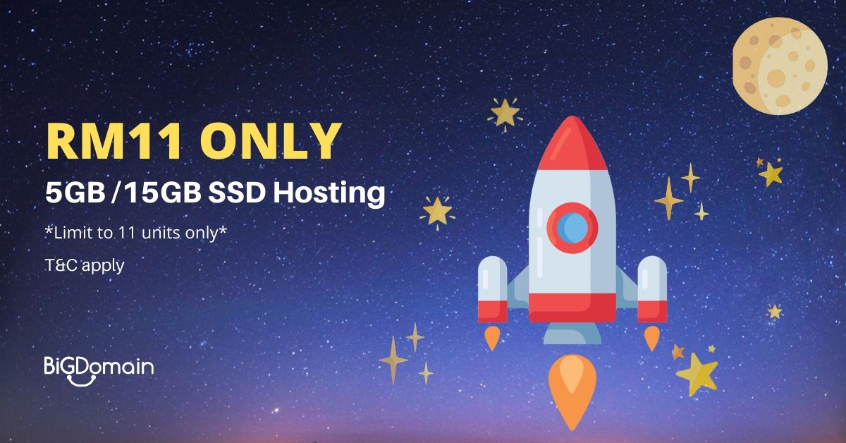 Get SSD powered Litespeed cPanel Hosting with only RM11