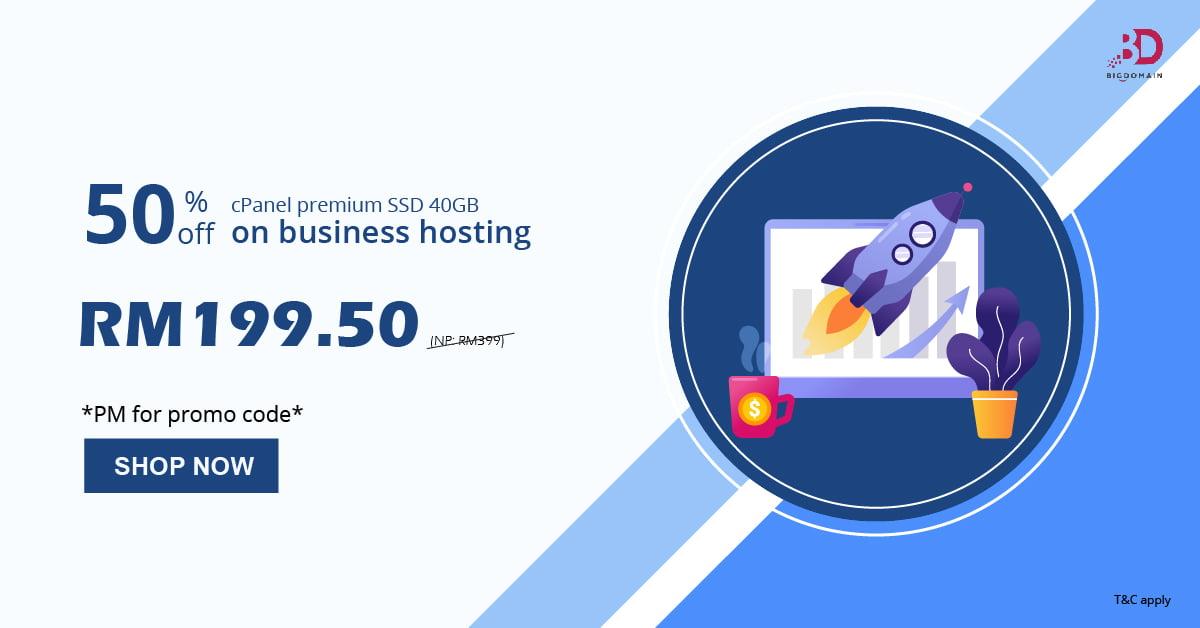 50% off on business hosting