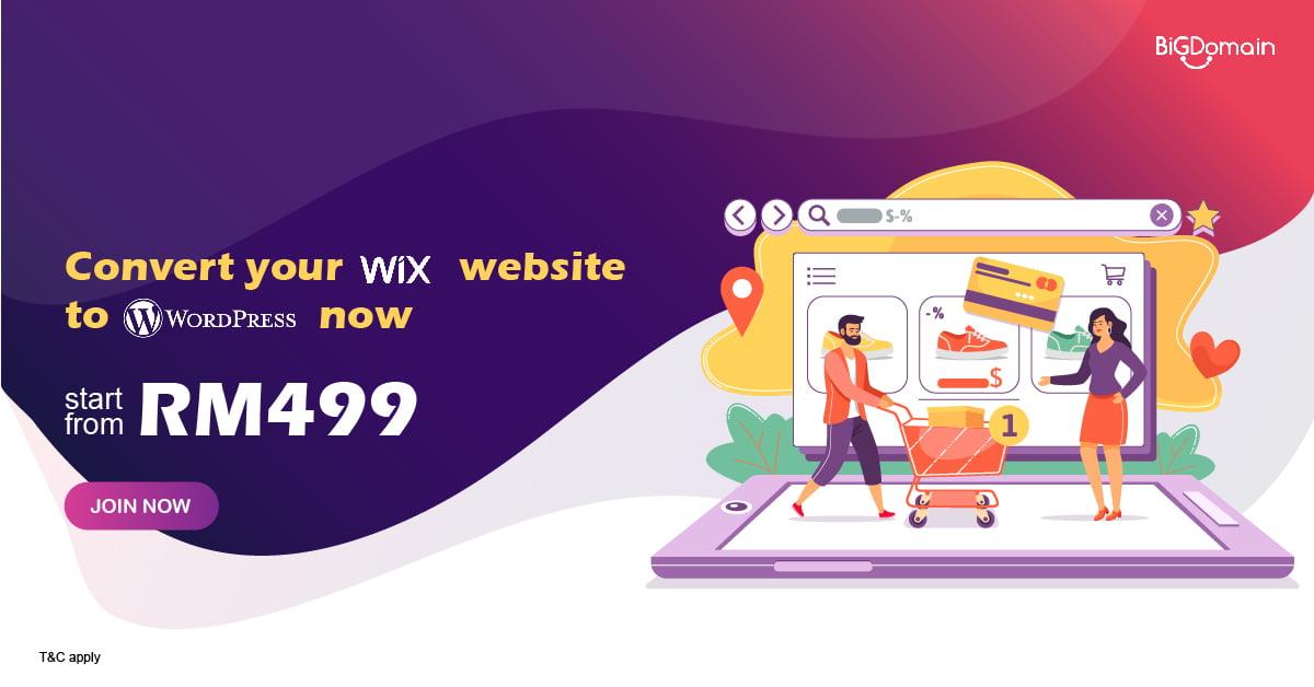 Convert your Wix website to WordPress now