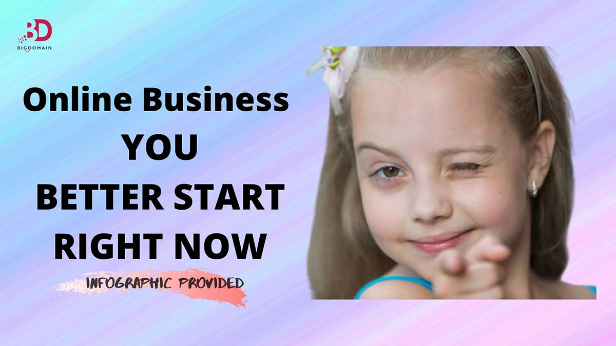 Online business better START RIGHT NOW. (Infographic)