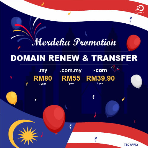 August Domain Promo: As low as RM39.90!!!
