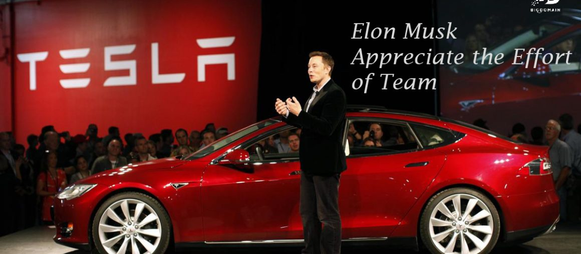 """Tesla Ceo- Elon Musk appreciates the efforts of team for deliveries in """"toughest"""" quarters."""