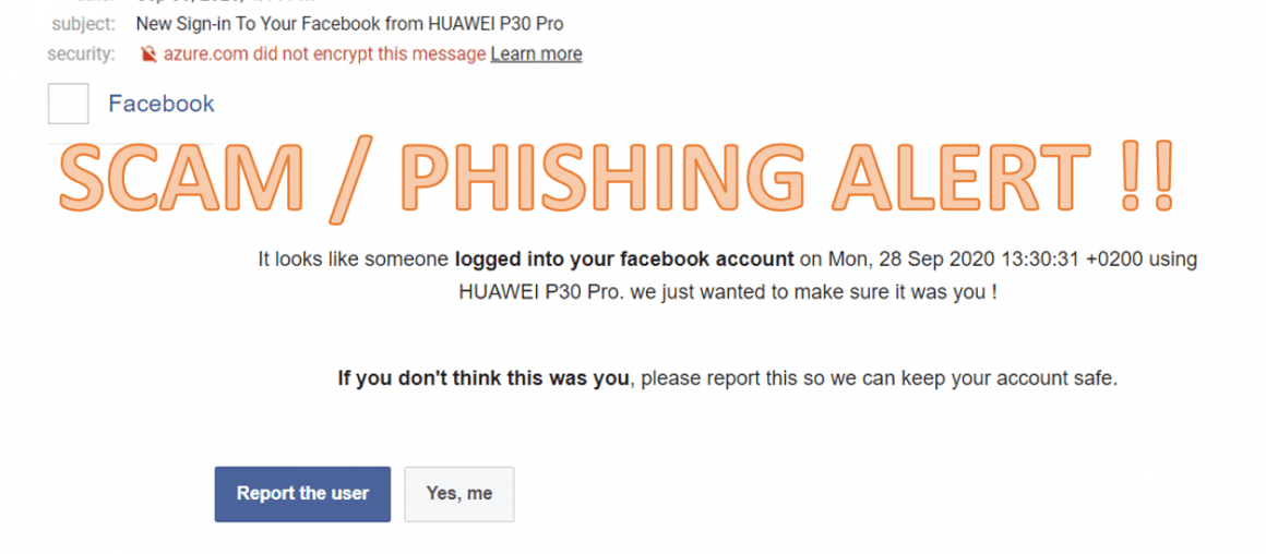 Latest SCAM/Phishing Alert . Latest Attack focusing on Facebook User in Malaysia