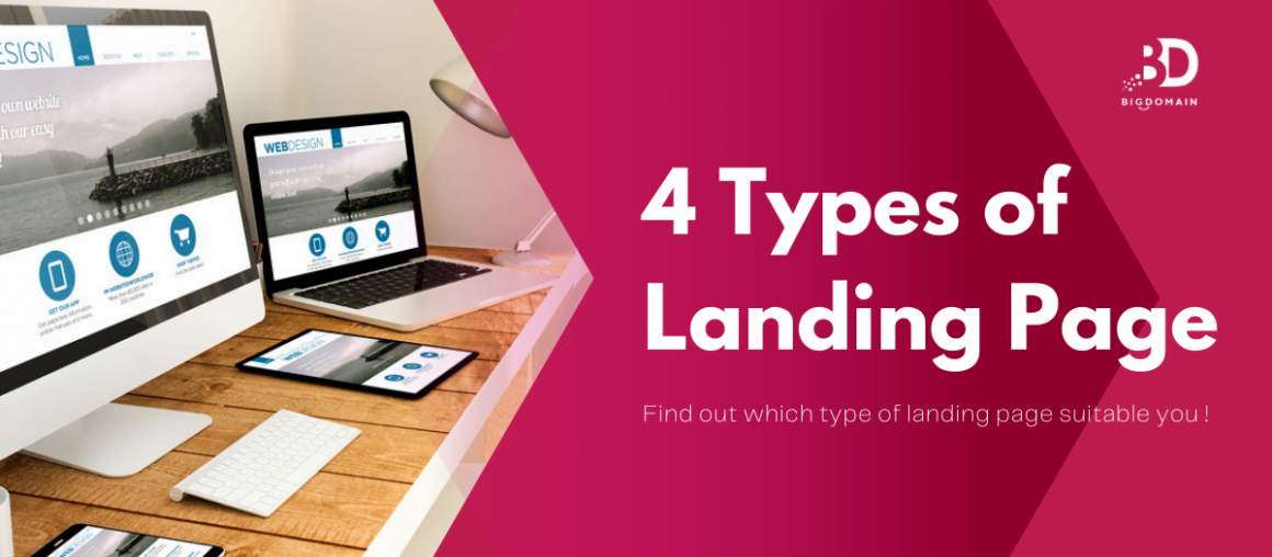4 Types of Landing Page