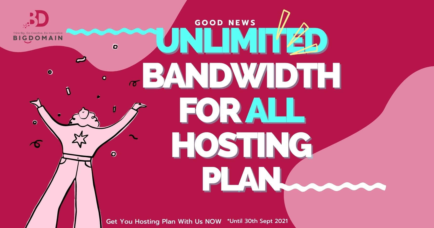 bigdomain unlimited bandwidth to all cPanel hosting
