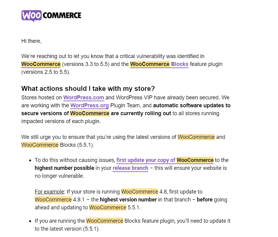 Your WooCommerce is Potentially Vulnerable! It affects over 5 Millions of WordPress ecommerce Website. Check your now 1