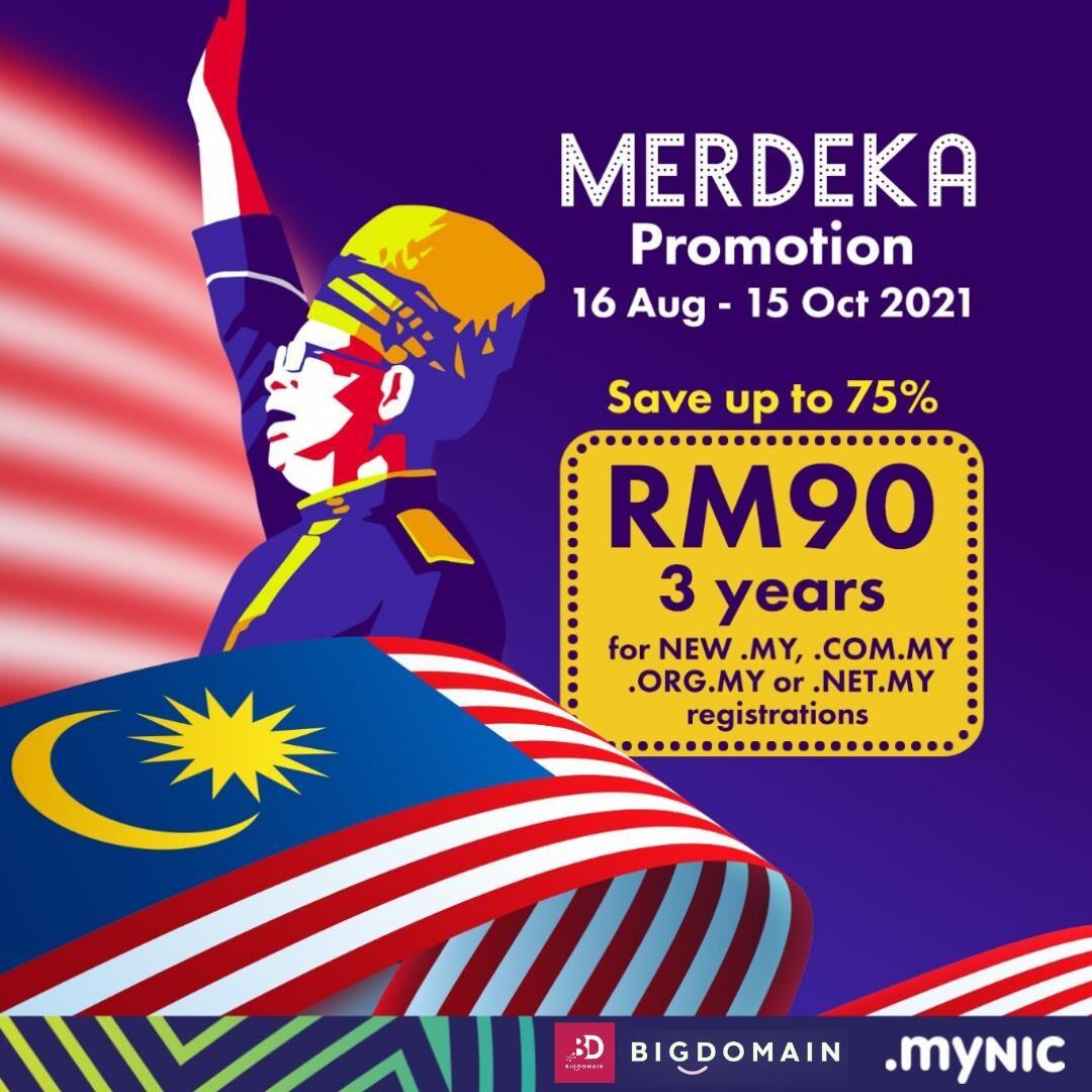 merdeka .my domain promotion RM90 3 years