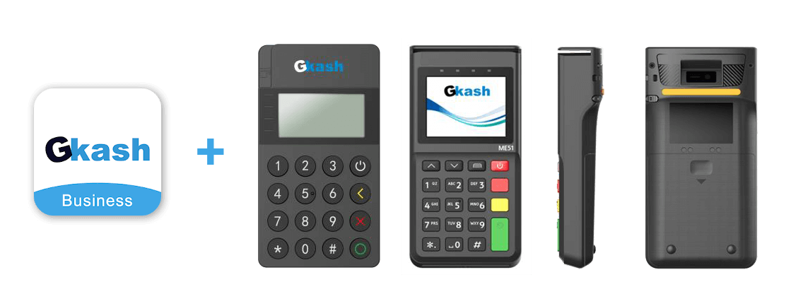 Gkash business app + unified payment terminal